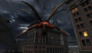 Winged Demon in Dead City