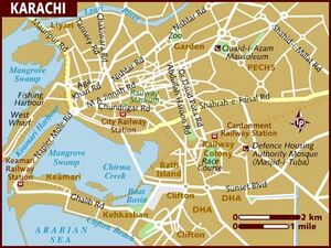 Pakistan Map Karachi 001