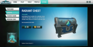 Store interface Radiant Chest