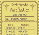 Certificate of Vaccination