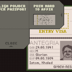 Using the poison on Istom's passport.