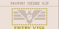 Passport seizure slip