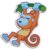 Sticker monkeyorange