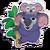 Sticker koala