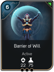 Barrier of Will card