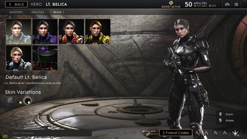 Lt. Belica Onyx Default skin
