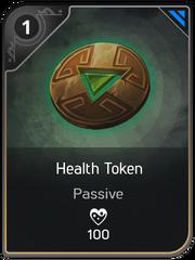 Health Token card