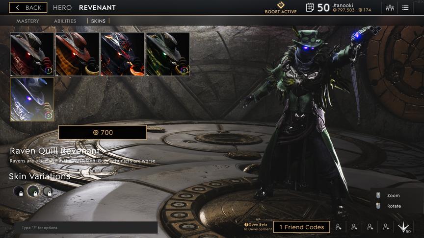 Revenant Emerald Raven Quill skin