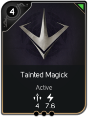 Tainted Magick card