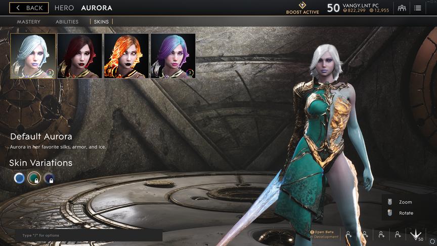 Aurora Aqua Default skin