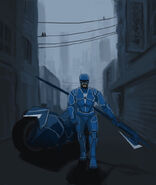 Armsmaster on patrol