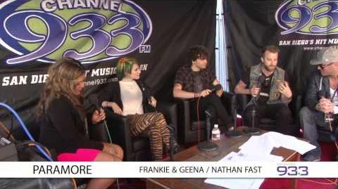 Paramore interview at Channel 933's Summer Kick Off Concert 2014