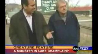 Champ the Lake Champlain Monster on ABC news