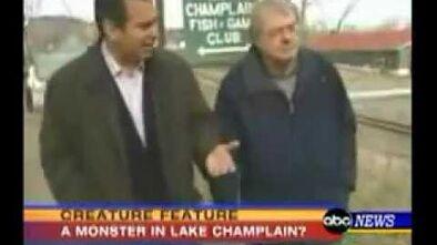 Champ the Lake Champlain Monster on ABC news