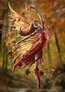 Autumn fairy by Anne Stokes