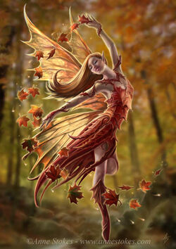 Autumn fairy by Anne Stokes