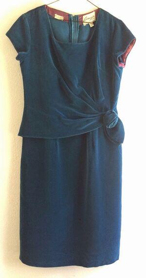 Dress Teal Velvet