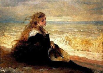 British+Paintings1879+George+Elgar+Hicks+-+On+the+Seashore