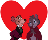 Basil of Baker Street and Mrs. Brisby love together