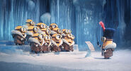 Minion singing ice