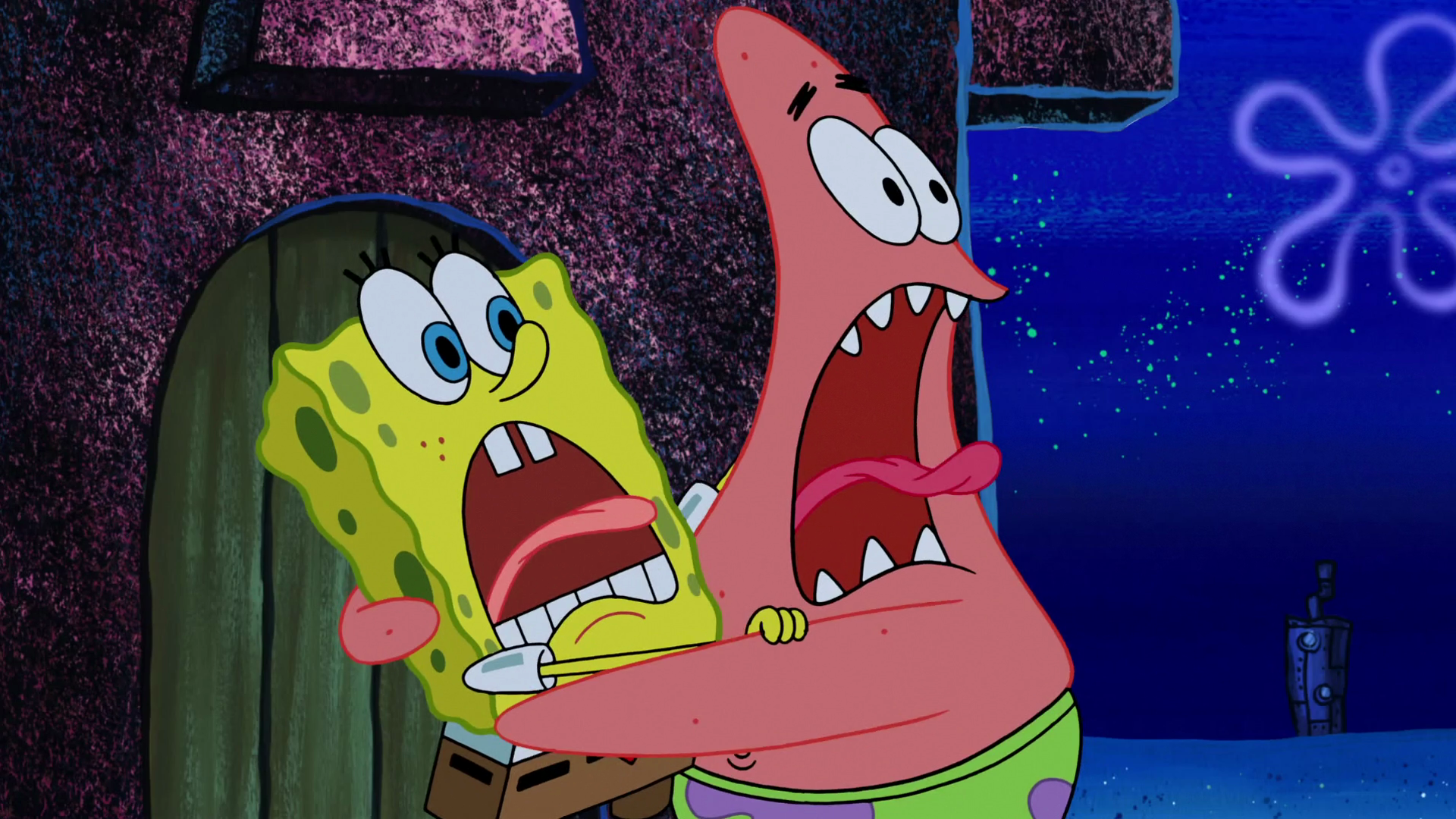 image spongebob and patrick are screaming of terror png the