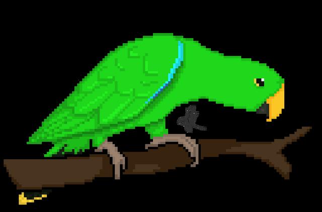 File:Pixel parrots male eclectus by kadoodles-d5x7ye4.png