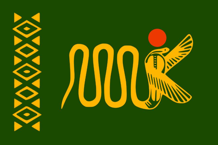 The Flag of the Yetebaberuti Menigišitati ya Kobura (United Kingdoms of Cobura)