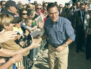 Mitt Romney Campaigning Vintage