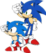 Sonic and Classic Sonic