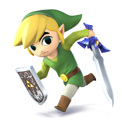 File:Toon Link for SSB4.png