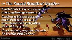 The rancid breath of death