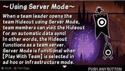 Using Server mode