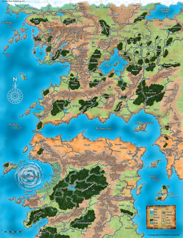Golarion map