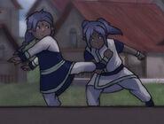 An'jhali jr and Idun'yr sparring