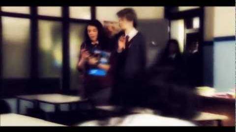 """Patricia & Jerome . """"Never knew that everything was falling through ."""" House Of Anubis ."""