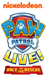 PAW Patrol Live! Race to the Rescue Logo