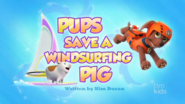 PAW Patrol Pups Save a Windsurfing Pig Title Card