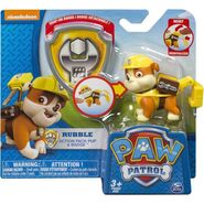 PAW Patrol Action Pack Pup and Badge, Rubble