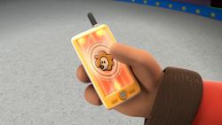 Leo on Cellphone