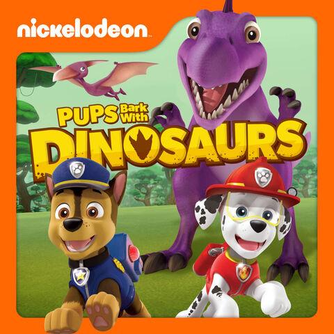File:PAW Patrol Nickelodeon Pups Bark with Dinosaurs Promotional Art iTunes.jpeg