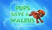 Pups save a walrus titlecard