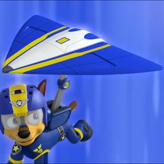 Super Chase's airborne gear transformation