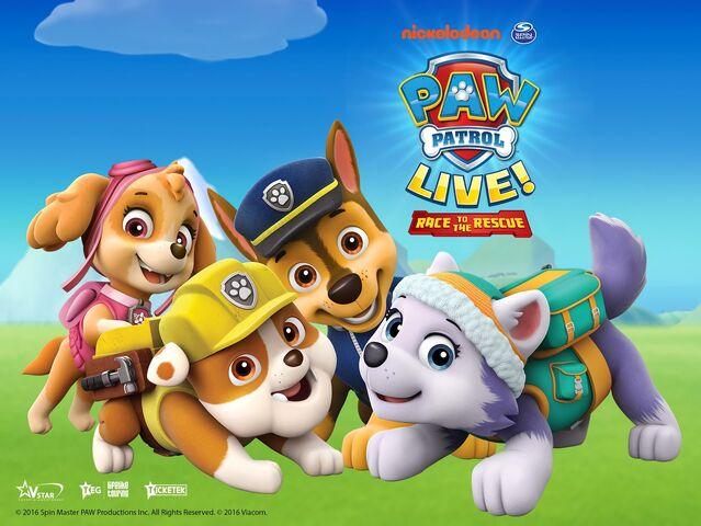 File:PAW-Patrol-Live-Race-To-The-Rescue-Tour-Nickelodeon-Australia-Preschool-VStar-Entertainment-Group-Life-Like-Touring-Nick-Jr-Spin-Master-Press-Poster-Logos 1.jpg