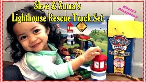Paw Patrol Skye & Zuma's Lighthouse Rescue Track Set Review