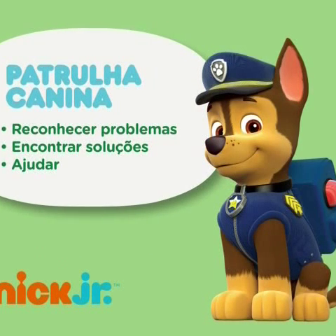 <i>Patrulha Canina</i> bumper with Chase on Nickelodeon (Brazil) and Nick Jr. (Brazil)