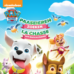 Belgian-Dutch cover (<i>Paaseieren zoeken</i> / <i>La Chasse aux œufs de Pâques</i>)