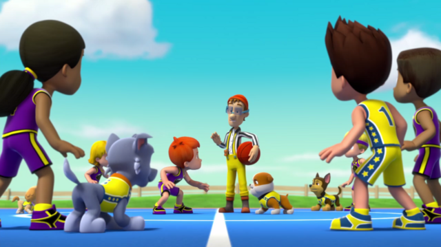 File:PAW Patrol Pups Save a Basketball Game Adventure Bay All-Stars Foggy Bottom Boomers Cap'n Turbot .png