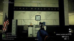 FirstWorldBank vault hallway