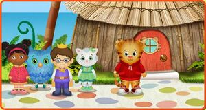 Daniel Tiger's Neighborhood website landing graphic