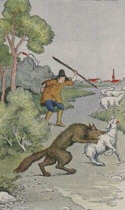 The-shepherd-boy-and-the-wolf
